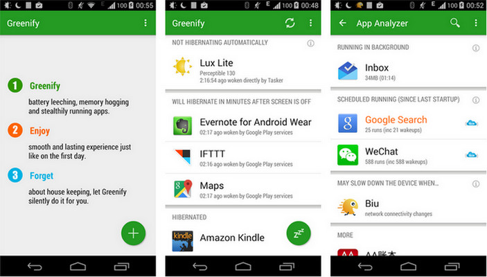 android system greennify software