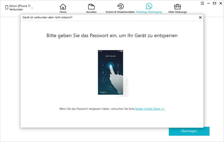 passcode entsperren