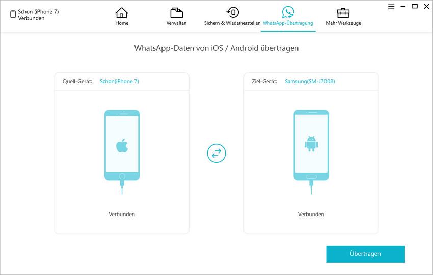 whatsapp nachrichten vom iphone auf android übertragen