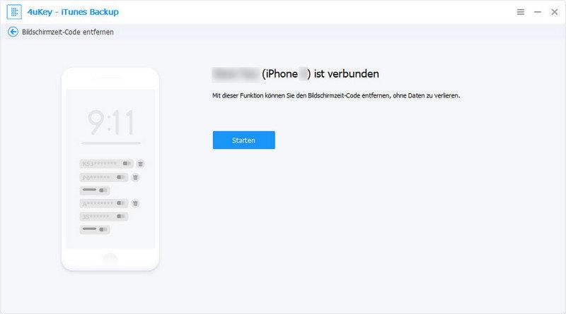 Bildschirmzeit-Code entfernen