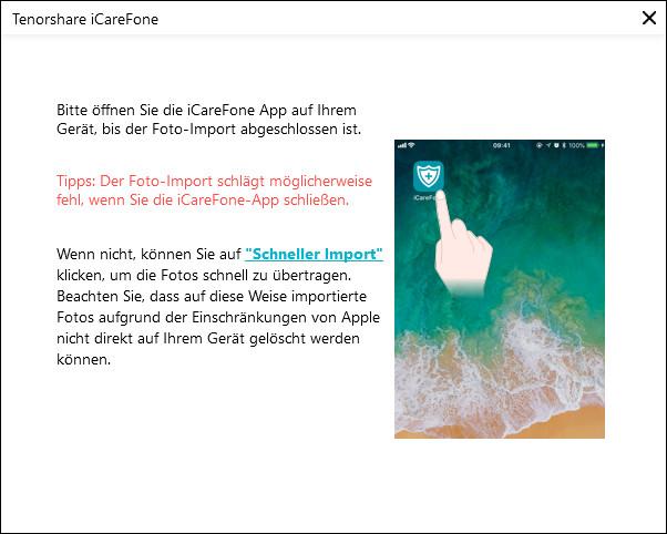iCareFone-App auf Gerät installieren