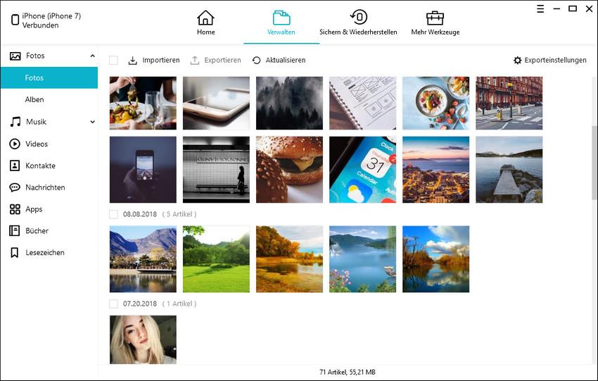 iPhone Fotoverwaltung