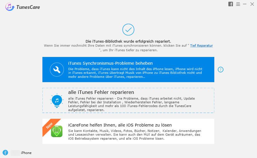 iTunes Mediathek reparieren