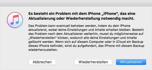 iphone wiederherstellen mit itunes