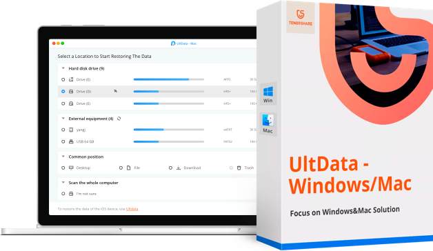UltData für Windows Daten abrufen