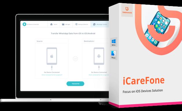 icarefone WhatsApp Transfer Produkt Box
