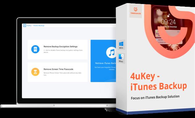 4uKey iTunes Backup Unlocker itunes Passwort wiederherstellen
