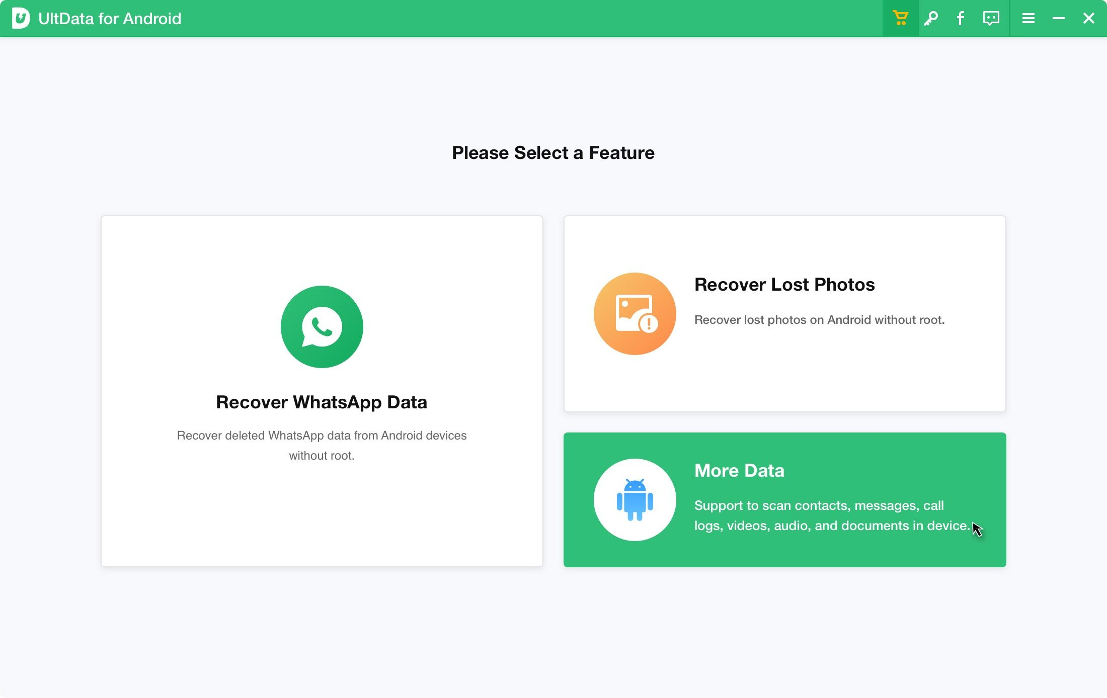 UltData für Android verbinden Sie Ihr Android Gerät