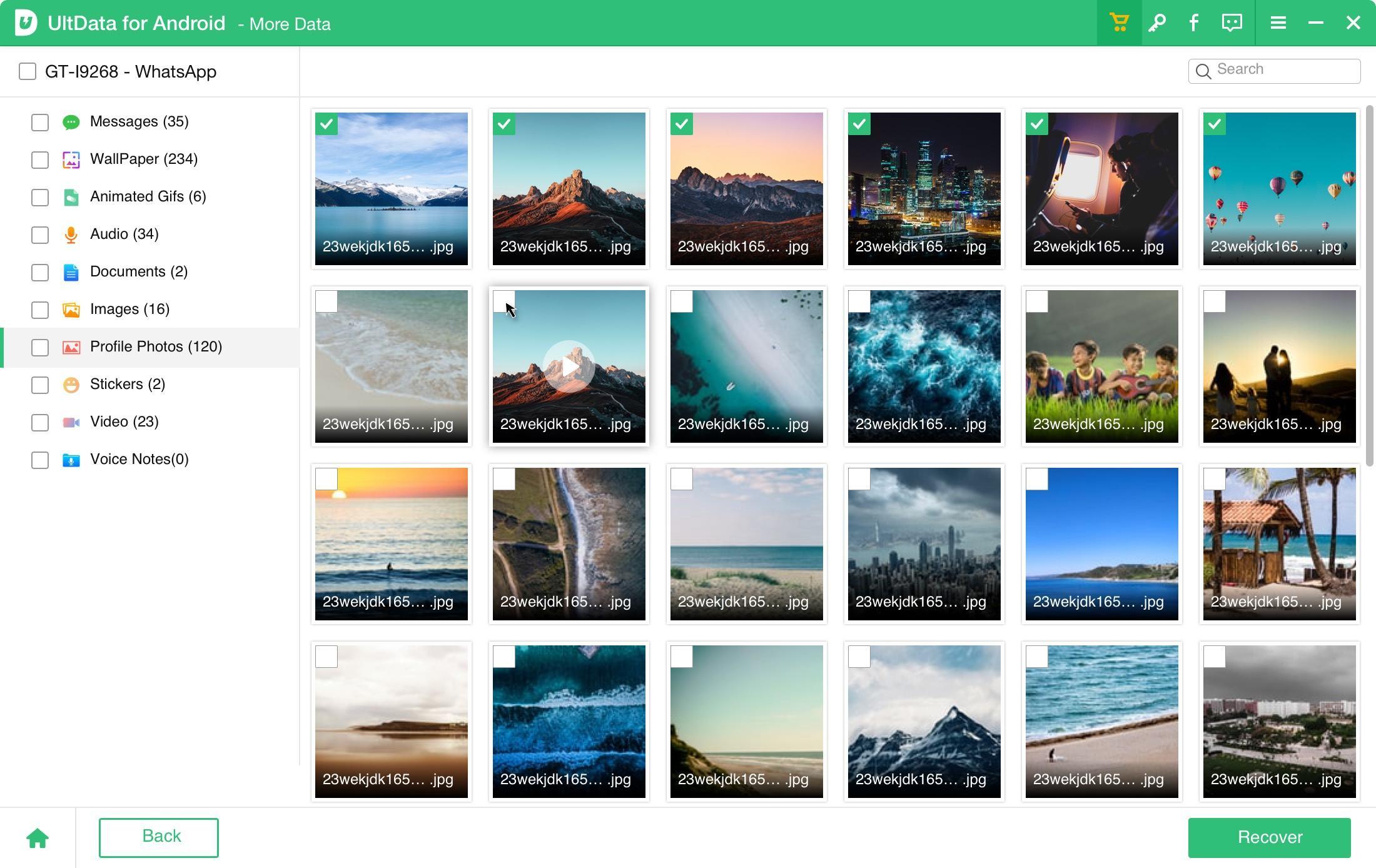 UltData für Android die gewünschten Daten wiederherstellen