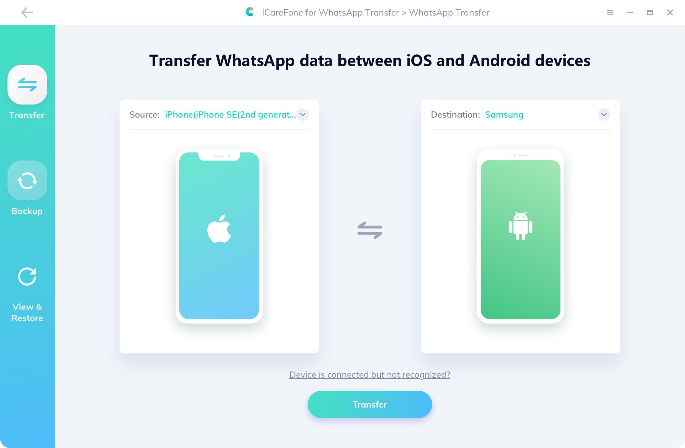 icarefone WhatsApp Transfer Software herunterladen und installieren